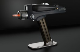 The Original Series Start Trek Phaser on its stand