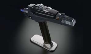 Phaser displayed on magnetic stand