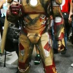 Iron man holds 10th Doctor's Sonic Screwdriver