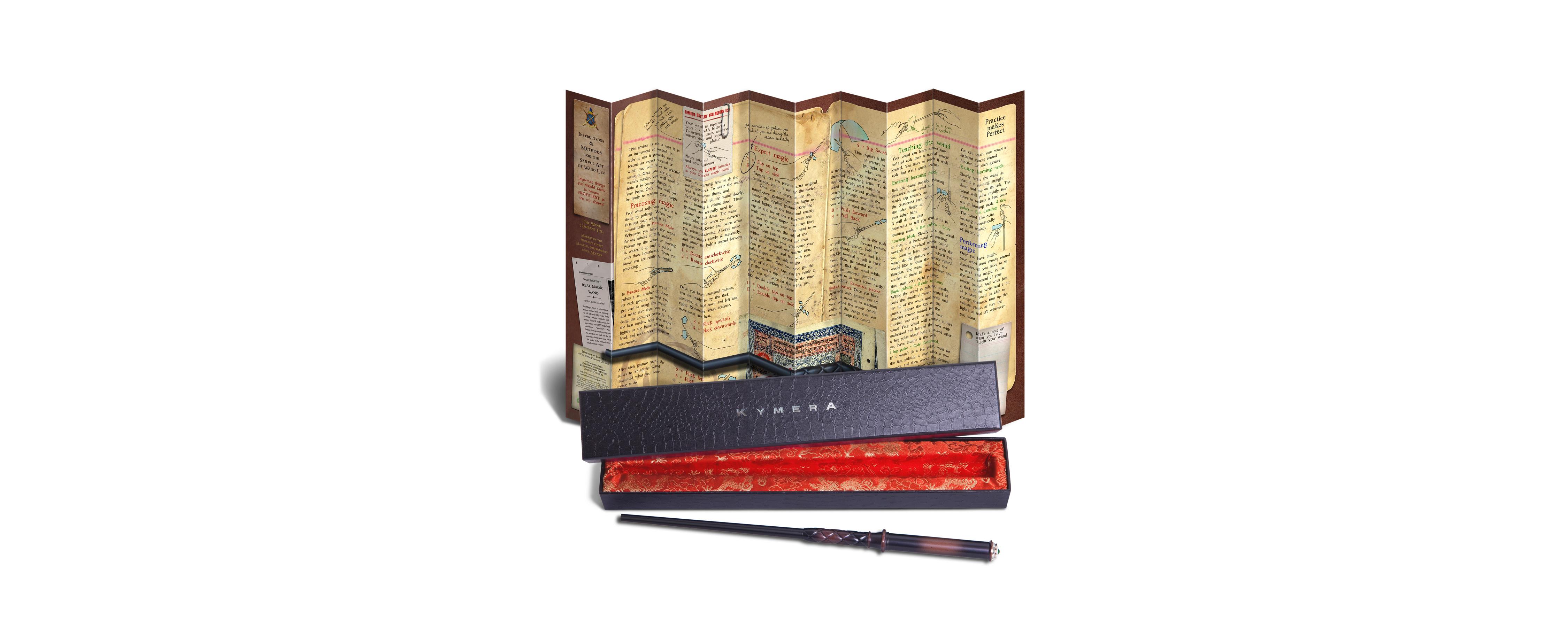 Kymera Wand box and manual