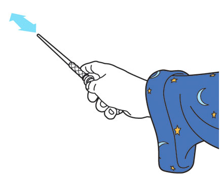 Kymera Wand gesture - push pull