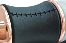 11th Doctor's Sonic Screwdriver close up of stitching detail on grip