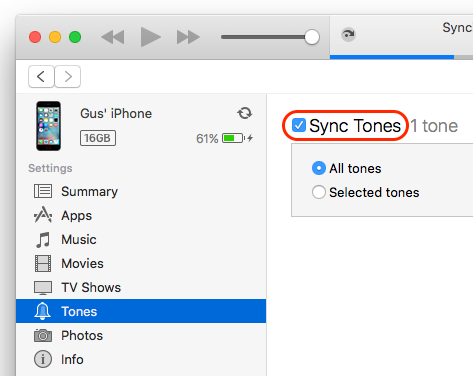 how to add a tone on itunes